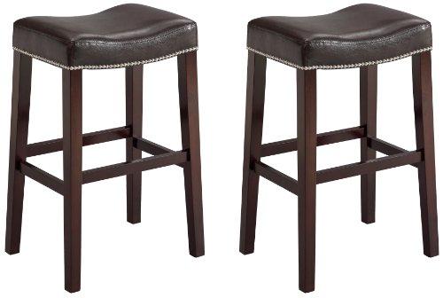 Incredible Buy Crown Mark 2991 Nadia Saddle Chair Espresso 2 Per Box Inzonedesignstudio Interior Chair Design Inzonedesignstudiocom