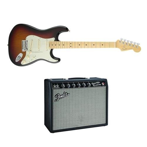 Fender American Elite Stratocaster Electric Guitar, 22 Frets, Modern C to D Neck, - Bundle With Fender Vintage Reissue Series '65 Princeton Reverb Guitar Amplifier (Fender Elite Stratocaster compare prices)