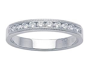 Karina B Round Diamonds Band in Platinum 950 Size 5