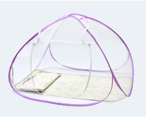 Portable Foldable Baby Kid Toddler Child Infant Newborn Nursery Travel Bed Crib Canopy Pop Up Mosquito Net Netting Play Tent Playpen House Playhouse Castle Outdoor Indoor Carry Case (Purple)