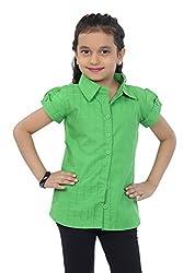Catmini Green Cotton Shirt For Girls