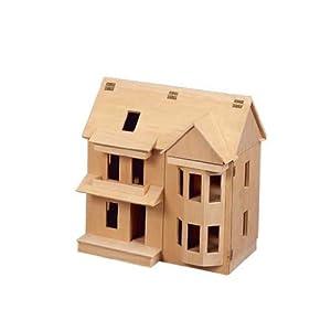 "Dollhouse Miniature 1/2"" Scale Victorian Shell Kit"
