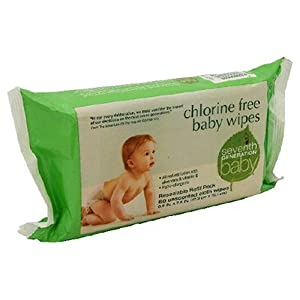 Seventh Generation Unscented Baby Wipes with Aloe Vera & Vitamin E, Refill - 70 ea (Pack of 5)