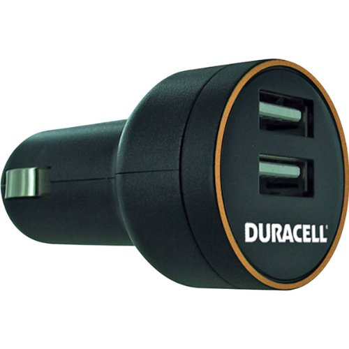 Duracell Drdcusb2 5-Volt Dual Usb 2A Vehicle Charger With Smart Current