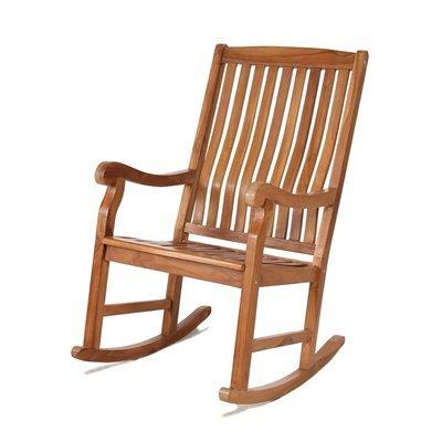 Teak Rocker Chair front-708626