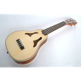B Stock - Soprano Ukulele Roy Smeck Vita style solid top electro acoustic by Clearwater - SOME COSMETIC FAULTS
