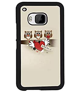 PRINTVISA Love m Do Premium Metallic Insert Back Case Cover for HTC One M9 - D6071
