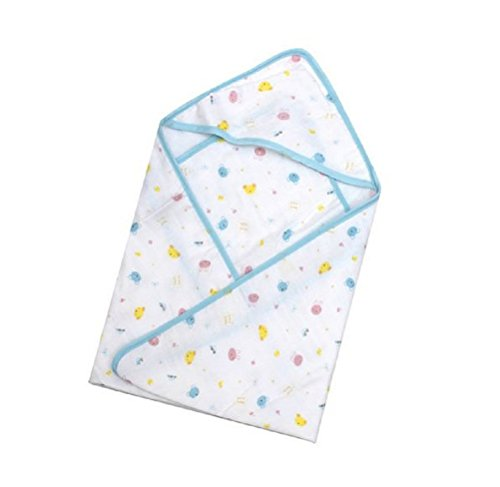 Nanxson(TM) gauze infant/ newborn toddle blanket/ bath towel YJET0008 (blue)