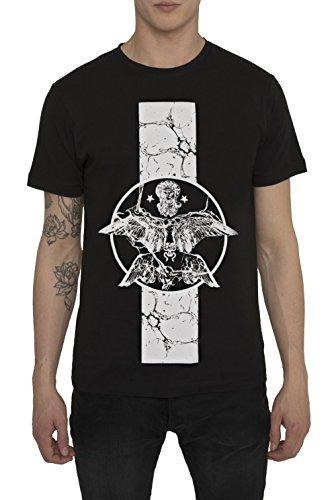 Camisetas-de-Algodn-para-Hombre-T-Shirt-Fashion-Rock-Camiseta-Negra-con-Estampada-FALLEN-ANGEL-T-Shirts-Designer-Cool-Ropa-Moda-Moderna-para-Hombres-Cuello-redondo-Manga-corta-S-M-L-XL-XXL