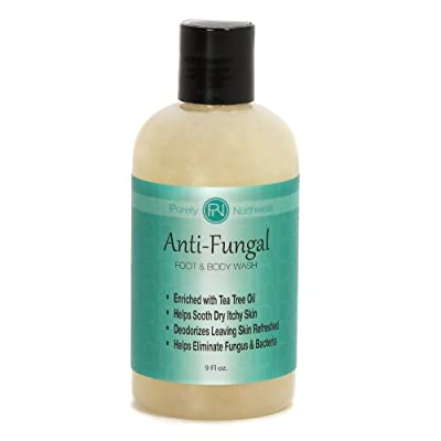 Best Cheap Deal for Antifungal Soap with Tea Tree Oil, Helps Treat & Wash Away Athletes Foot, Ringworm, Nail Fungus, Jock Itch, Body Odor & Acne. Antibacterial Defense Against Common Fungal and Bacteria Related Skin Irritations 9oz. by Purely Northwest -