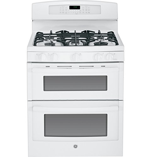 "Ge Pgb950Defww Profile 30"" White Gas Sealed Burner Double Oven Range - Convection front-20309"