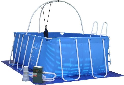 iPool Deluxe Above Ground Exercise Swimming Pool with Filter / Pump and Heater Upgrade