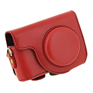 Protective Pu Leather Detachable Case for Casio Zr1000 Digital Camera with Strap