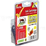 Inkrite Compatible Canon CLI-8Y Yellow Ink Cartridge - Inkrite canon IP3300 4200 4300 5200 IX4000 MP500 (CLI-8Y yellow with chip) (Horse)