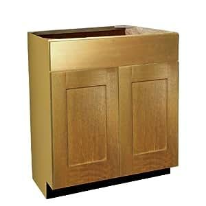 Buy Shaker Panel Door Style Vanity Sink Base 30 Wide 18 Deep 34 5 High In A Maple Natural