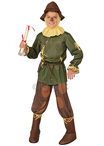 Childrens Wizard of Oz Scarecrow Costume Medium 5-7 years