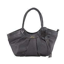 Jewlot Black PU Women's Handbags 1098