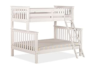 Cloudseller WHITE 3FT OVER 4FT6 TRIPLE BUNK BED NEW DESIGN