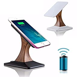 Ofeely Wireless Charging Stand,Wireless Charger Pad Rotating Magnetic Wireless Mobile Phone Charging Holder for iPhone,Samsung,Nokia,HTC,LG (Black)