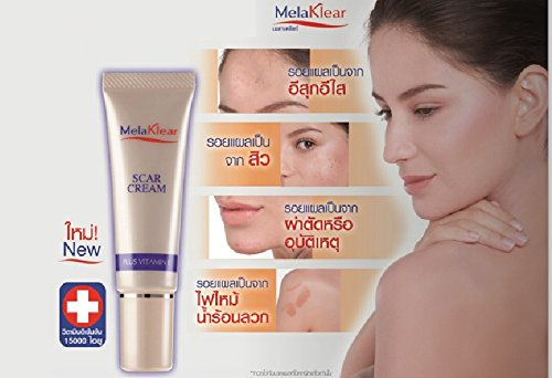 Melaklear Scar Cream Plus Vitamin E Reduce Visibility Of Scars, Acne Scars 10 G. (Pack Of 2)