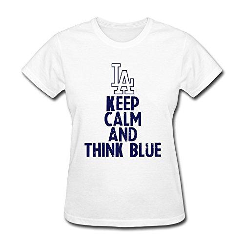 Wxmy Women'S Keep Calm T-Shirt - M White