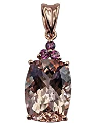 Carillon India Morganite 9.55 Ct & Pink Tourmaline Gold Plated Sterling Silver Pendent