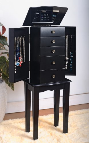Fantastic Deal! Black Jewelry Armoire Chest