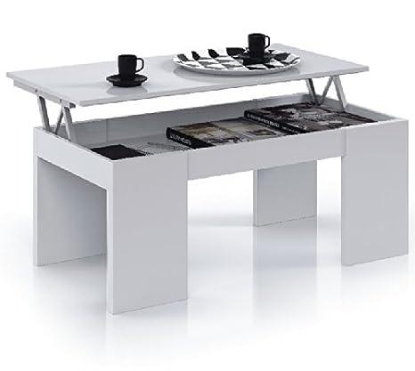 Flower Lift Up - Tavolino da caffè, colore: Bianco lucido