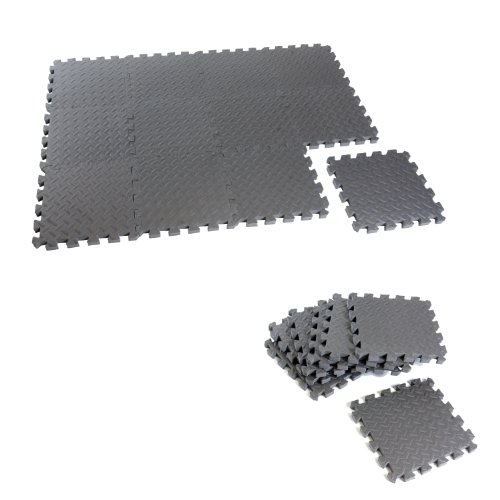 Cap Barbell Equipment Mat Anti-microbial 12-Piece Puzzle Mat (12 X 12 X 1.5-Inch)
