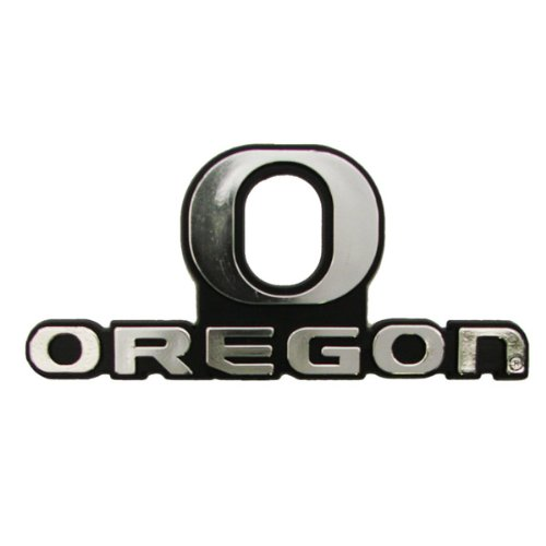 Oregon Ducks Official Ncaa 3 Inch X 3 Inch Silver Auto Emblem