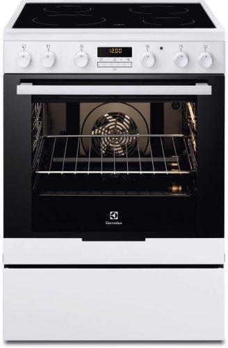 Electrolux EKC6670AOW cuisinière - fours et cuisinières (Autonome, Noir, Blanc, Electrique, Electrique, conventionnel, Grill, Céramique)