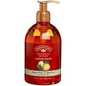 Nature's Gate Organics Fruit Blend Liquid Hand Soap, Asian Pear &amp; Red Tea, 12-Ounce Bottles (Pack of 3)