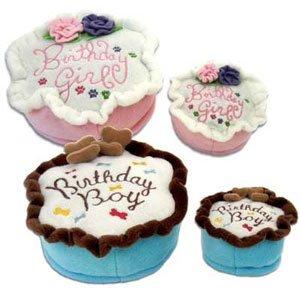 Haute Diggity Dog Birthday Girl Cake Chew Toy