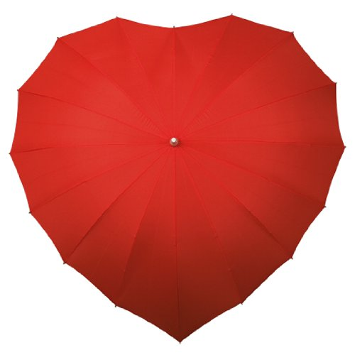 Heart Shaped Umbrella 88cm Long