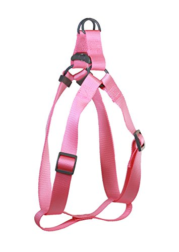 Pet Champion Extra Small/ Small 8-14 inch Chest Bright Polyester Step-In Halter Dog Harness, Pink Lemonade (Champion Dog Toys compare prices)