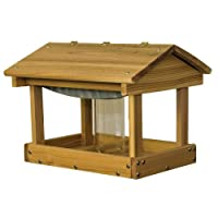 Stovall Wood Pavilion Feeder With Seed Hopper 6F
