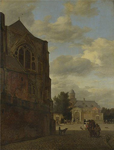 Polyster Canvas ,the Replica Art DecorativePrints On Canvas Of Oil Painting 'Jan Van Der Heyden An Imaginary View Of Nijenrode Castle ', 30 X 40 Inch / 76 X 101 Cm Is Best For Kids Room Gallery Art And Home Gallery Art And Gifts