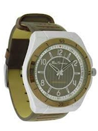 Ben Sherman Gents R928 Brown Faux Leather Strap Round Brown Dial Watch