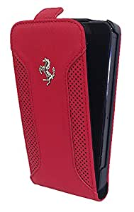 Ferrari F12 Collection Leather Flip Case for iPhone 5 / 5S - Red