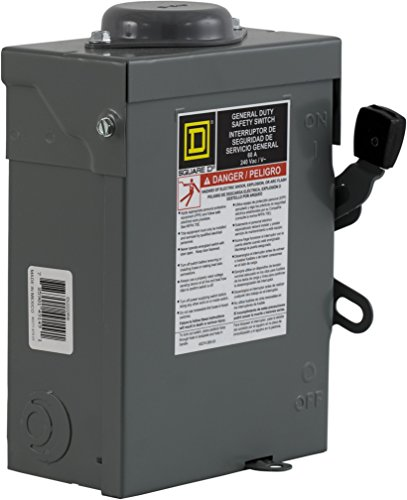 Square D by Schneider Electric DU322RB 60-Amp 240-volt 3-Pole Non-Fusible Outdoor General Duty Safety Switch
