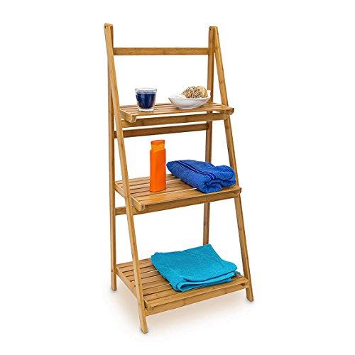 Relaxdays-Leiterregal-Bambus-H-x-B-x-T-100-x-45-x-33-cm-Badregal-mit-3-praktischen-Ablageflchen-auch-als-Standregal-und-Kchenregal-zu-verwenden-zum-Auf-und-Zuklappen-fr-Bad-und-Wohnraum-natur