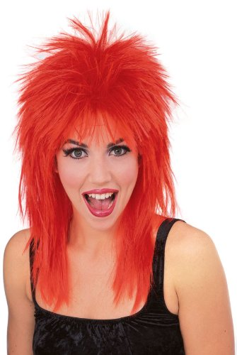 Rubie's Costume Rock Star Spiked Wig, Red, One Size