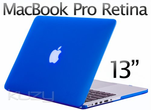 >>  Kuzy - Retina 13-Inch BLUE Rubberized Hard Case for MacBook Pro 13.3