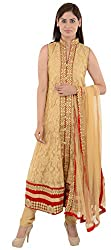Wedding Pearls Women's Dress (Beige and Maroon)