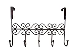 Dream2life Over the Door 5 Hook Rack - Decorative Hanger for Hanging Your Clothes - Coat - Hat Belt - And More - Stylish Organizer for Your Home or Office - Best Lifetime Guarantee by Dream2life