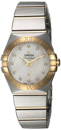 Omega Women's 'Constellation' Swiss Quartz Stainless Steel Dress Watch, Color:Two Tone (Model: 12320276055008) (Omega Gold Ladies compare prices)