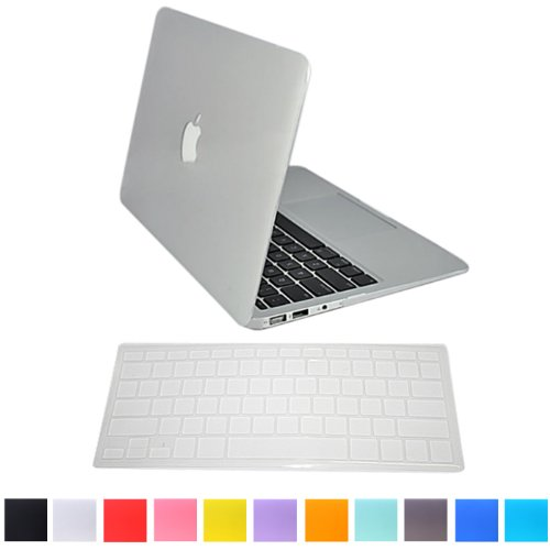 """HDE Matte Hard Shell Clip Snap-on Case + Matching Keyboard Skin for MacBook Pro 13"""" (Non-Retina) - Fits Model A1278 (Clear)"""