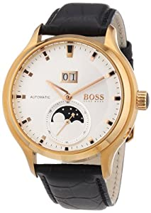 BOSS Black Automatic Leather Strap Watch