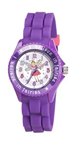 Children's Tikkers Girls Cute Fairy Watch Lilac/Purple Silicone Strap TK0043