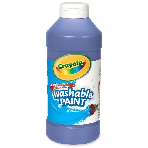Crayola - Crayola Washable Paint, Squeeze Bottle, 16 Oz, Blue, Sold as 1 Each, CYO542016042
